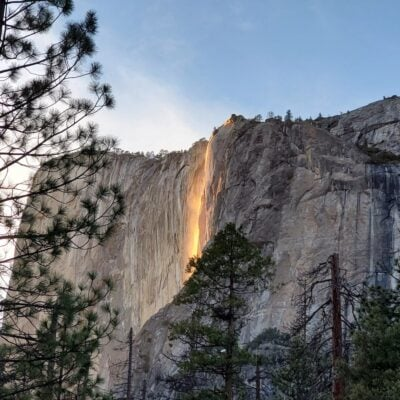 The incredible Firefall spectacle at Yosemite.