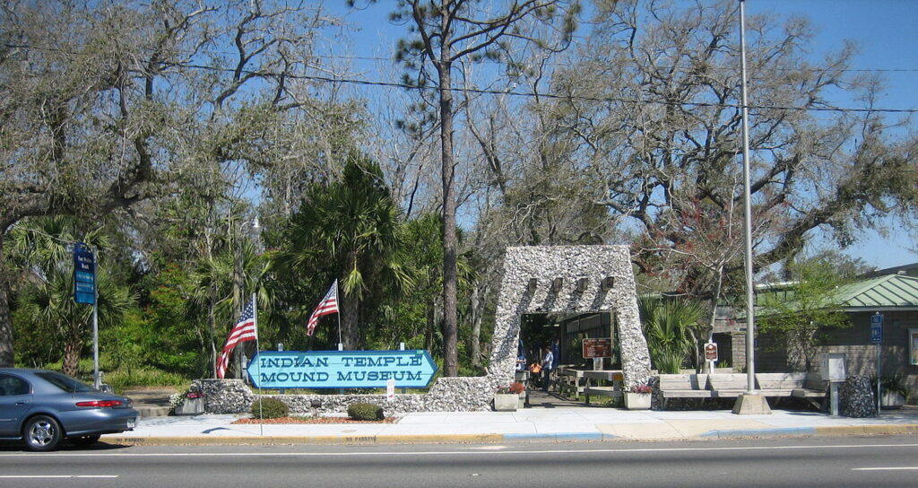 The Indian Temple and Mound Museum in Florida.