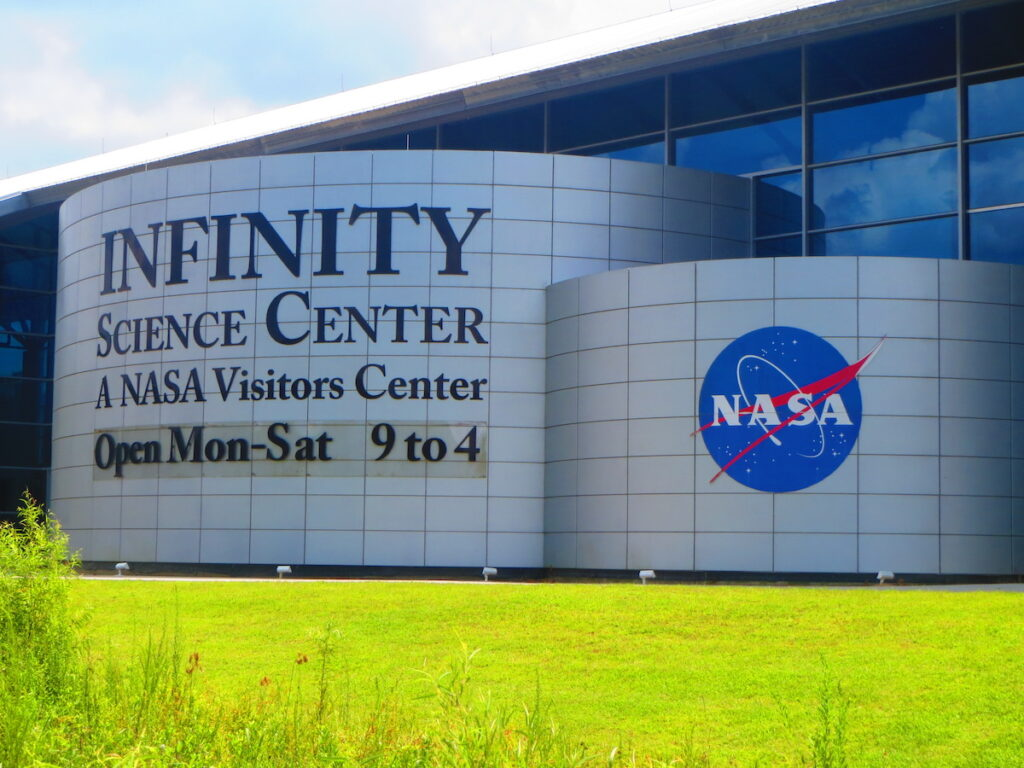 The Infinity Science Center in Mississippi.