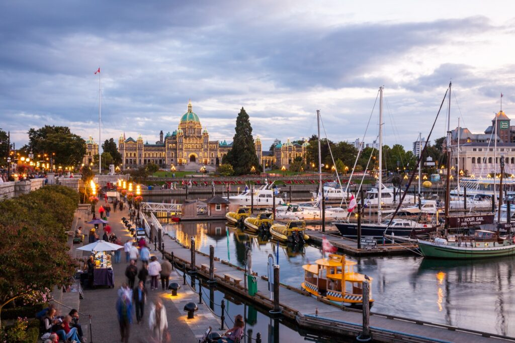The Inner Harbour in Victoria.