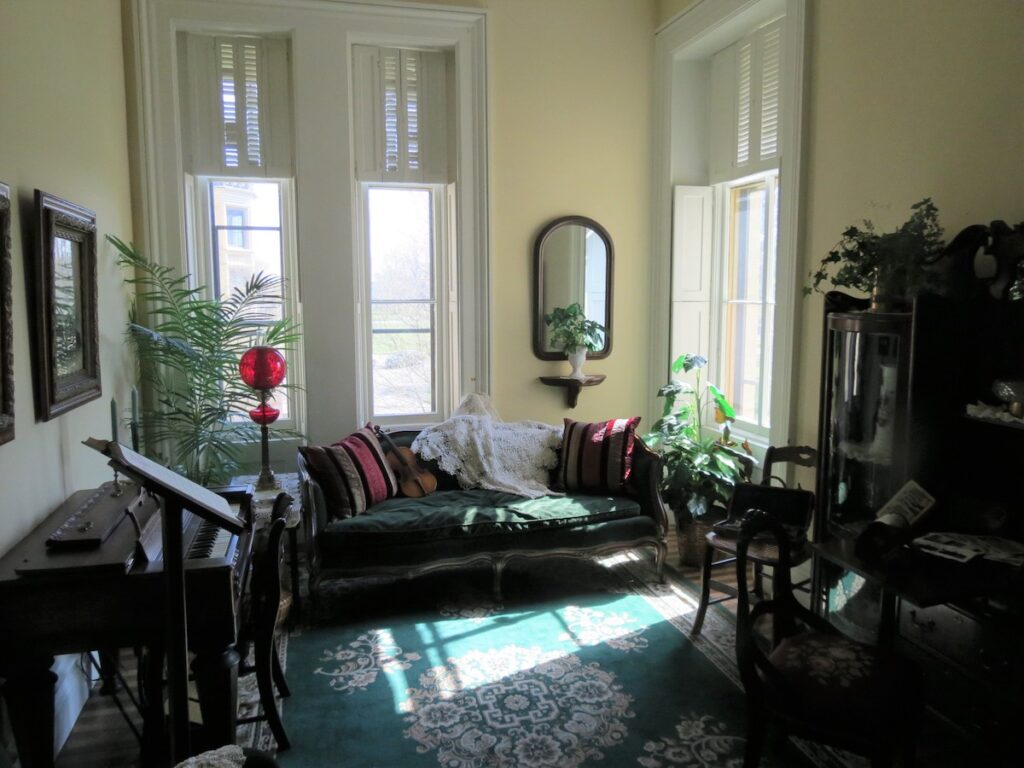 The interior of Durkee Mansion.