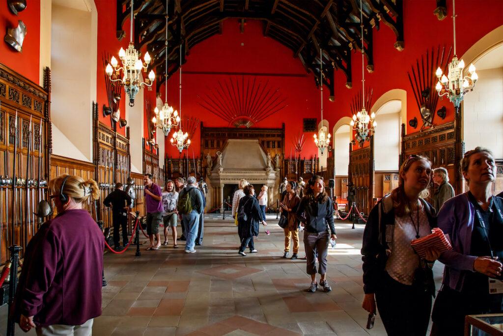 The interior of Edinburgh Castle in Scotland.