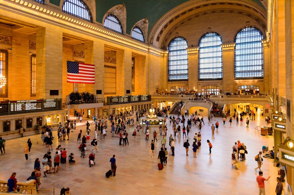 The interior of Grand Central Station.