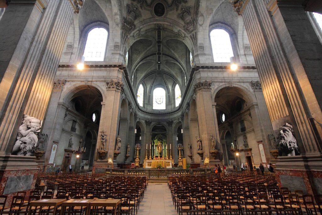 The interior of Saint Sulpice Church.