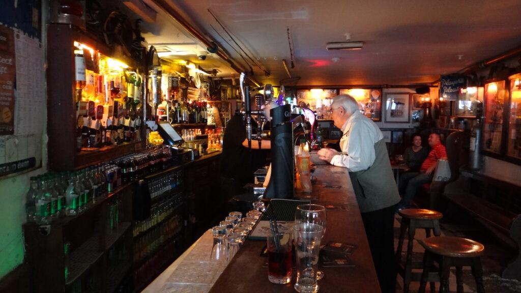 The interior of Sean's Bar in Athlone, Ireland.