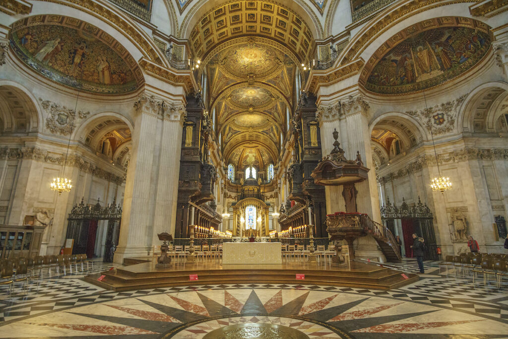 The interior of St. Paul's Cathedral.
