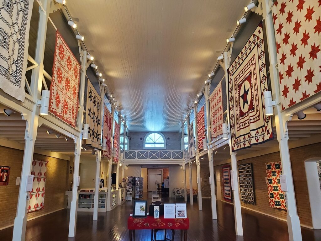 The interior of the Quilt Museum.