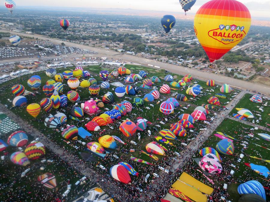The International Balloon Fiesta in Albuquerque.