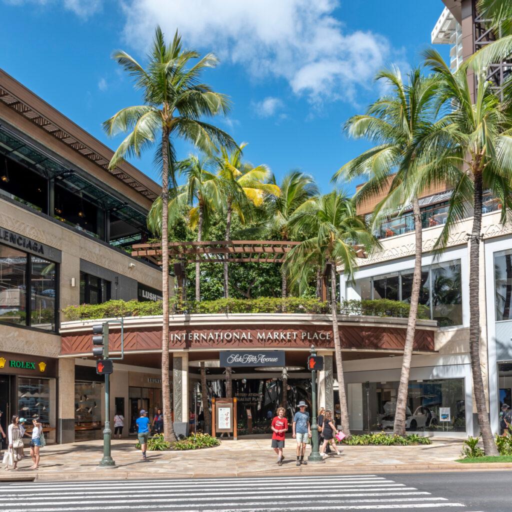 The International Market Place in Oahu, Hawaii.