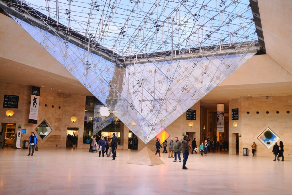 The Inverted Pyramid at the Louvre.