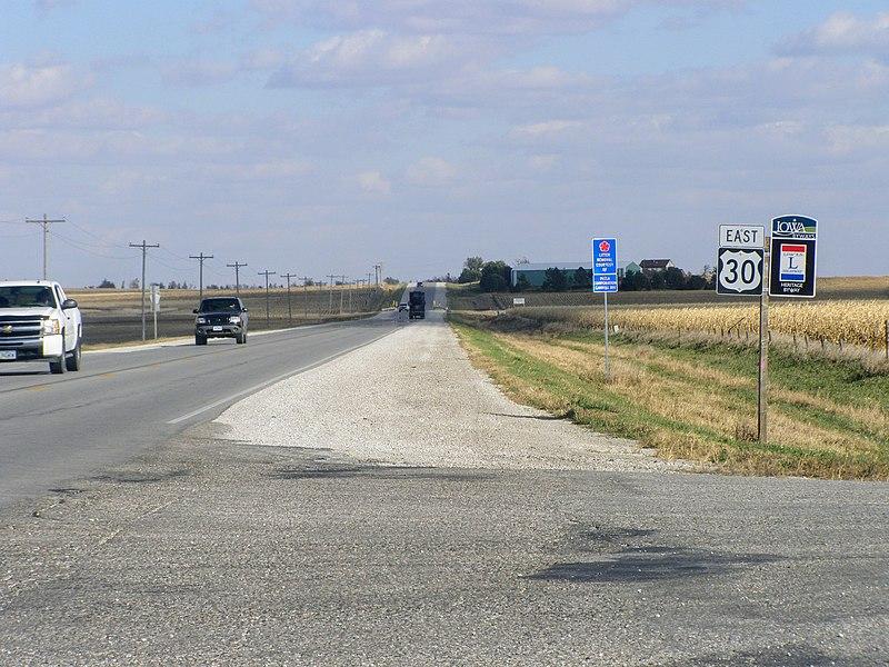The Iowa Heritage Byway through North Iowa.