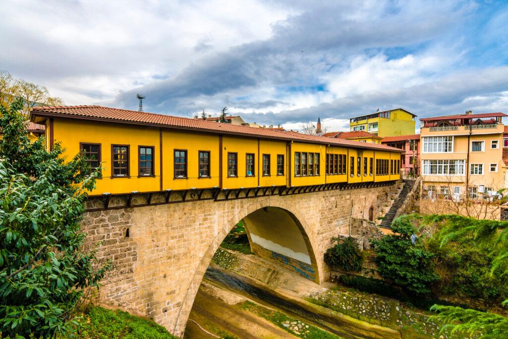 The Irgandi Bridge in Bursa, Turkey.