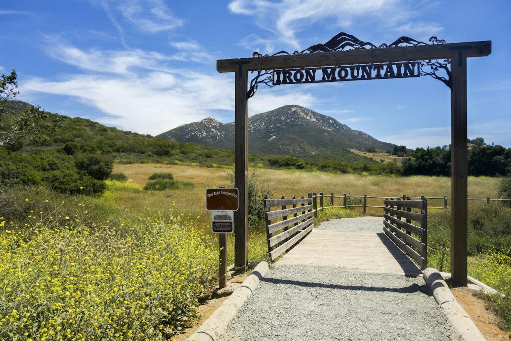 The Iron Mountain Trailhead near Poway, California.