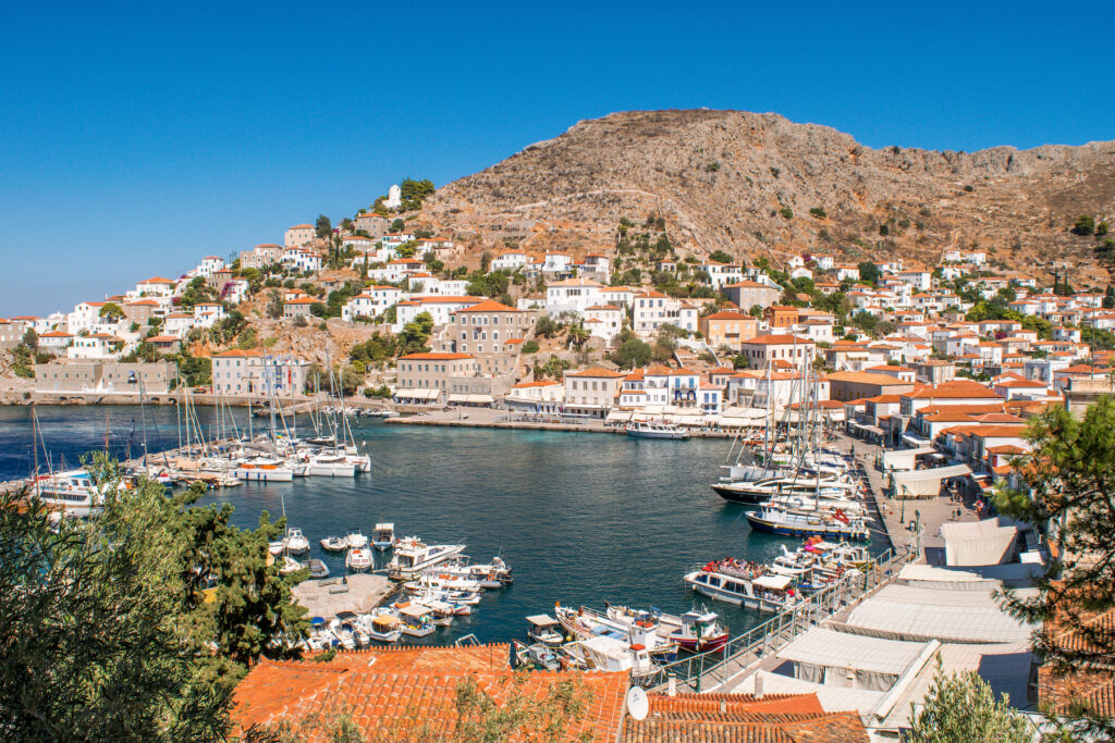 The island of Hydra in Greece.