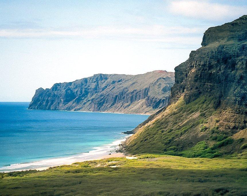 The island of Niihau in Hawaii.