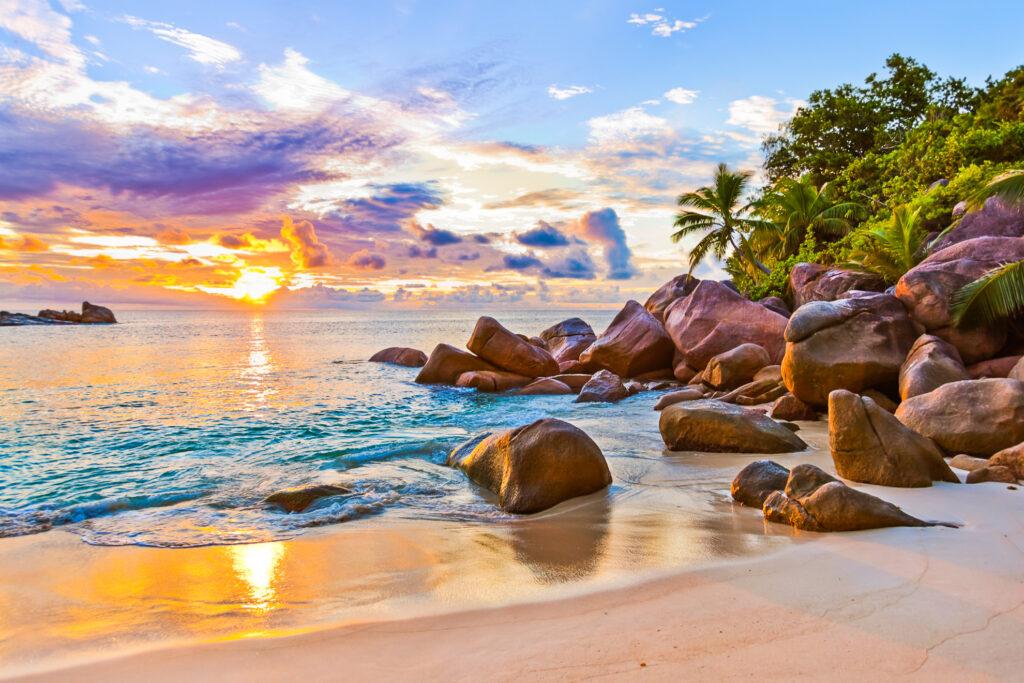 The island of Praslin in Seychelles.