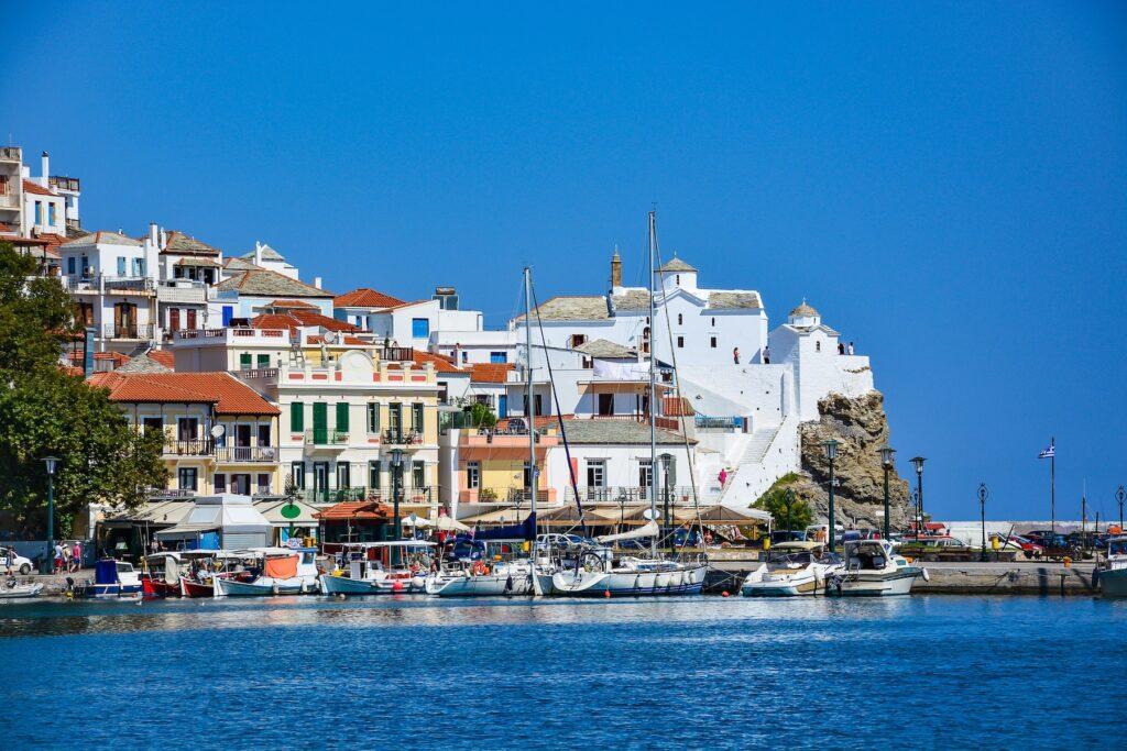 The island of Skopelos in Greece.