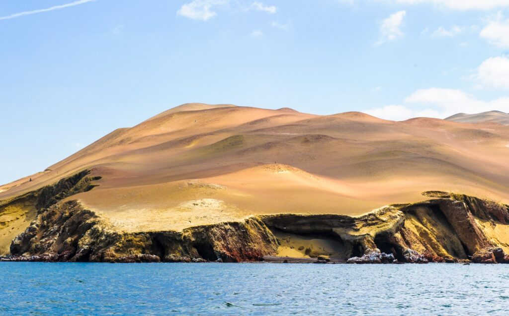 The Islas Ballestas in Peru.