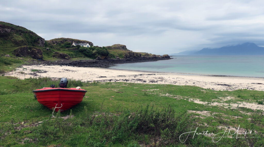 The Isle of Muck in Scotland.
