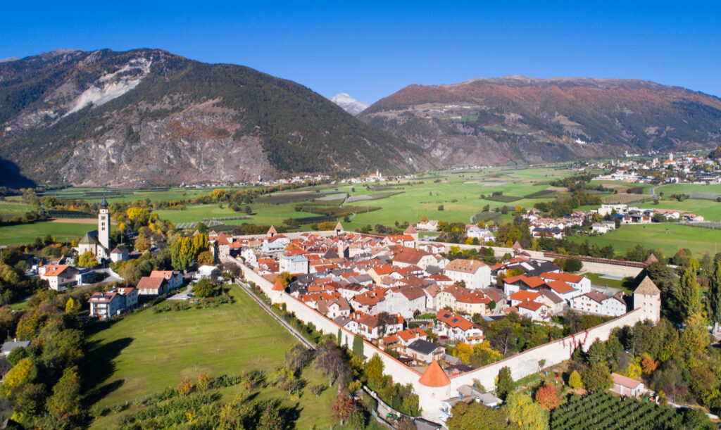 The Italian town fo Glorenza.