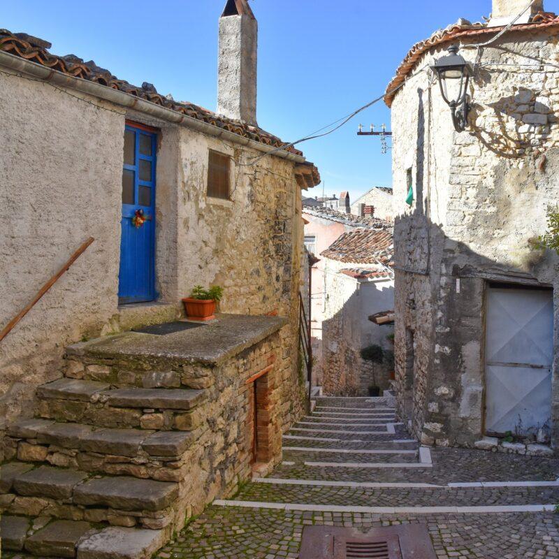 The Italian town of Castropignano.