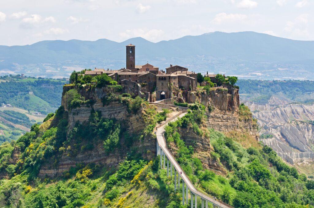 The Italian town of Civita di Bagnoregio.