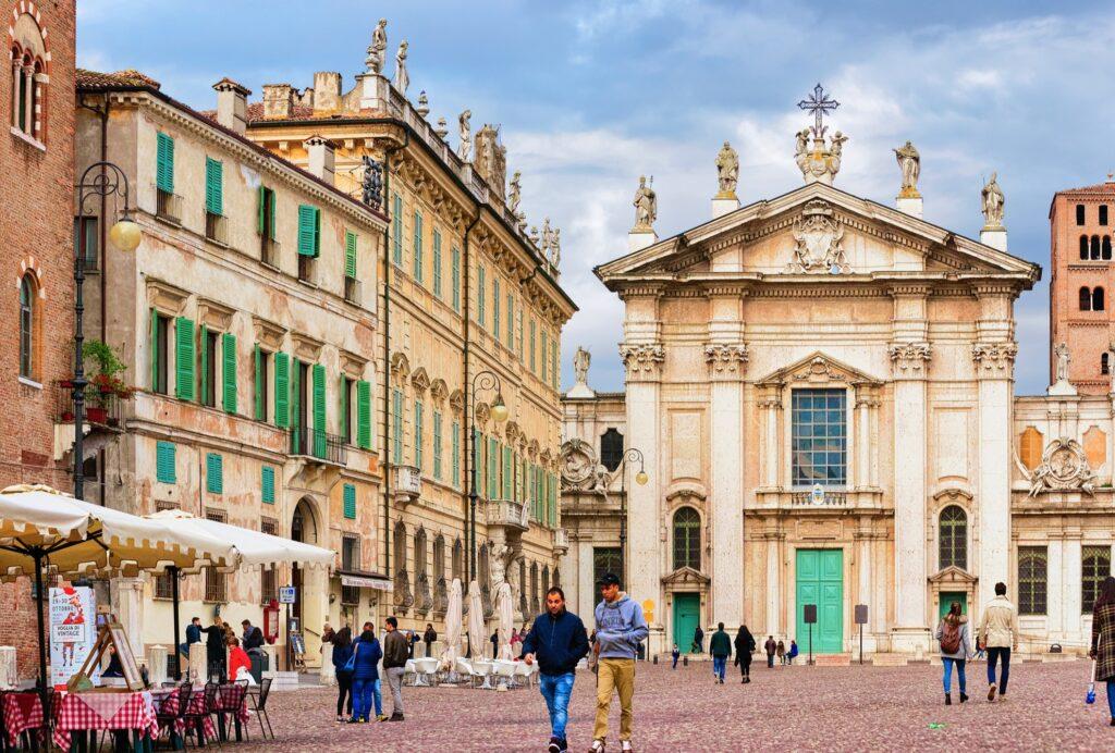 The Italian town of Mantua.