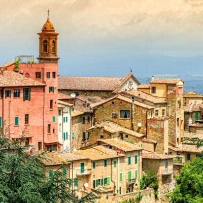The Italian town of Montepulciano.