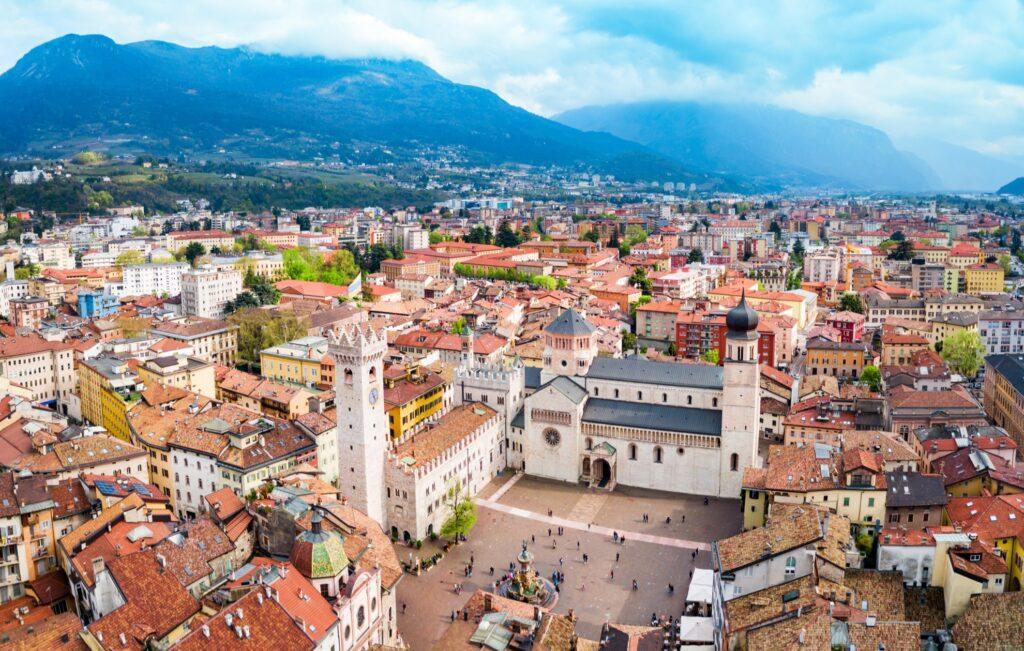 The Italian town of Trento.