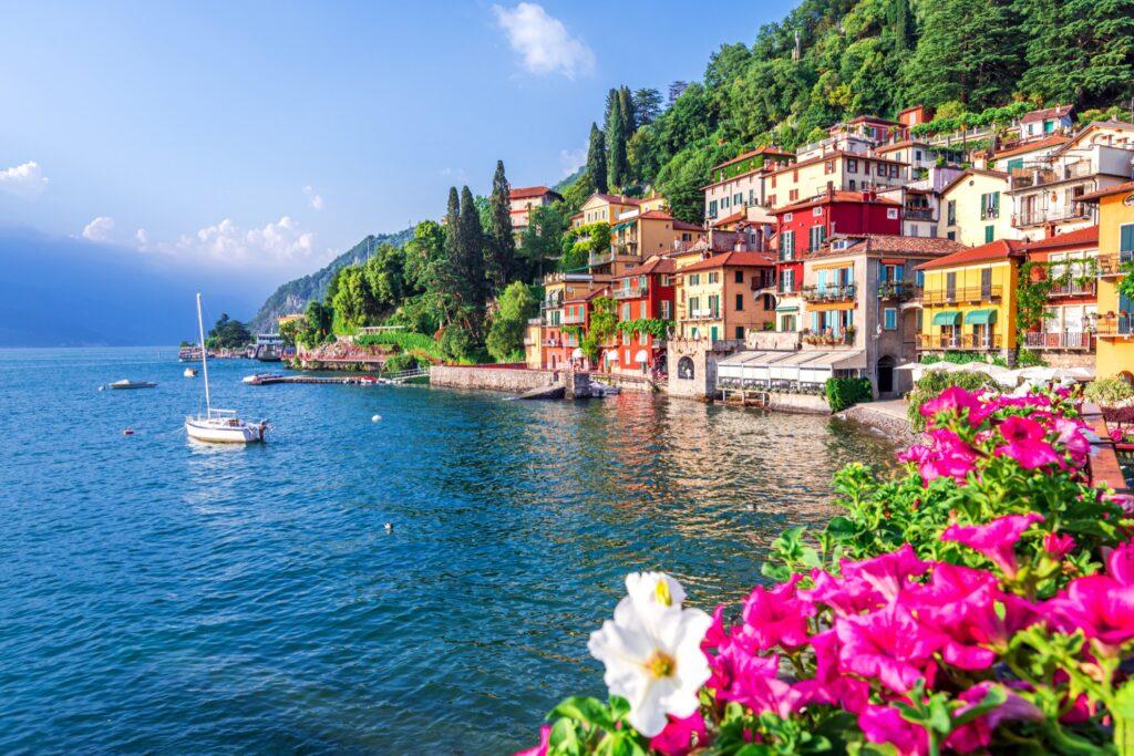 The Italian town of Varenna.