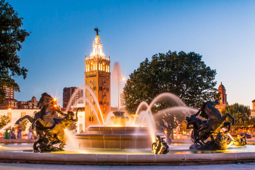 The J.C. Nichols Memorial Fountain in Kansas City