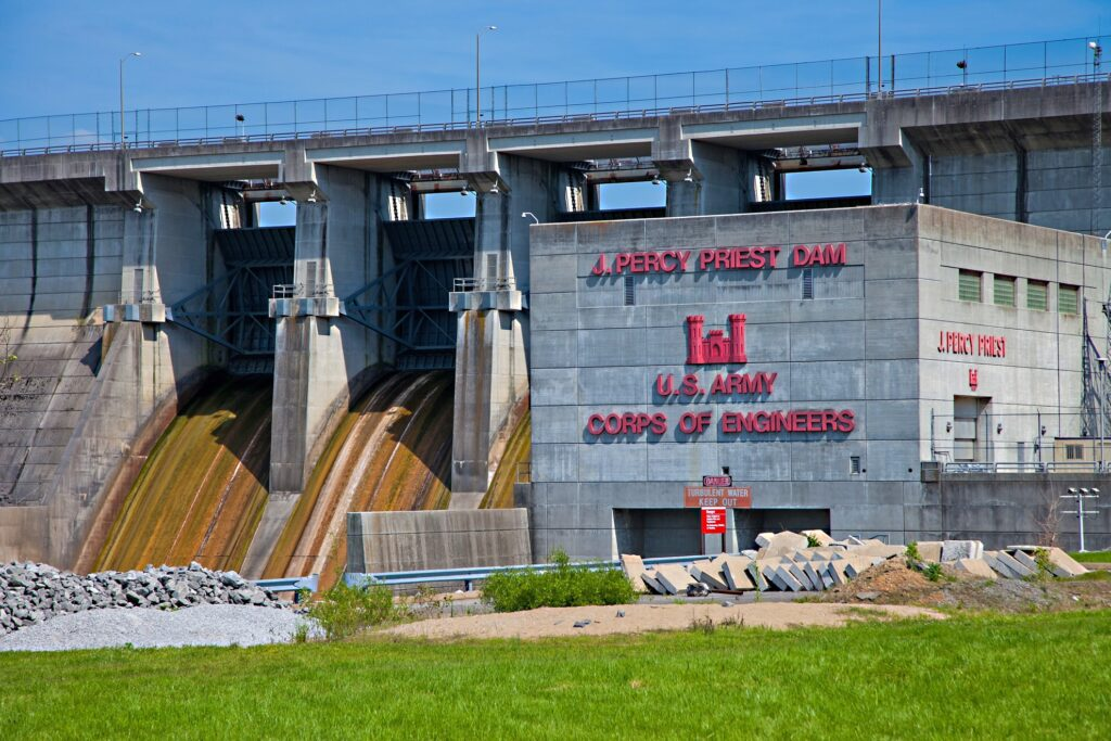 The J. Percy Priest Dam outside of Nashville.