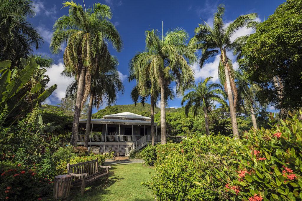 The J.R. O'Neal Botanical Garden in Tortola.