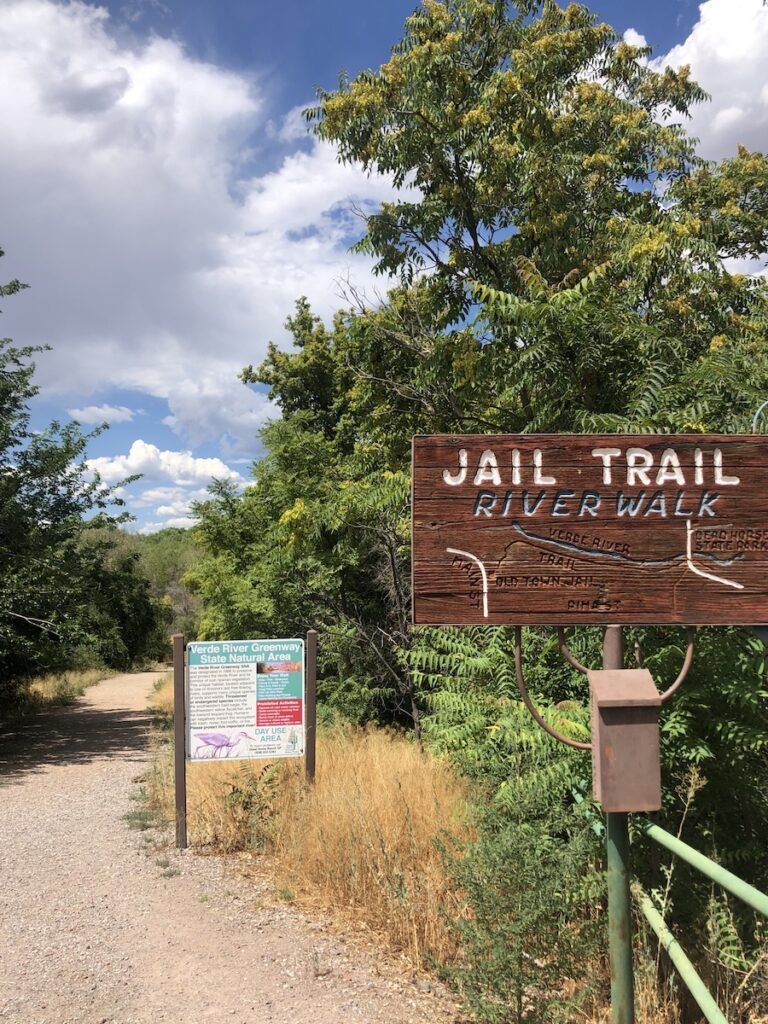 The Jail Trail along the Verde River.