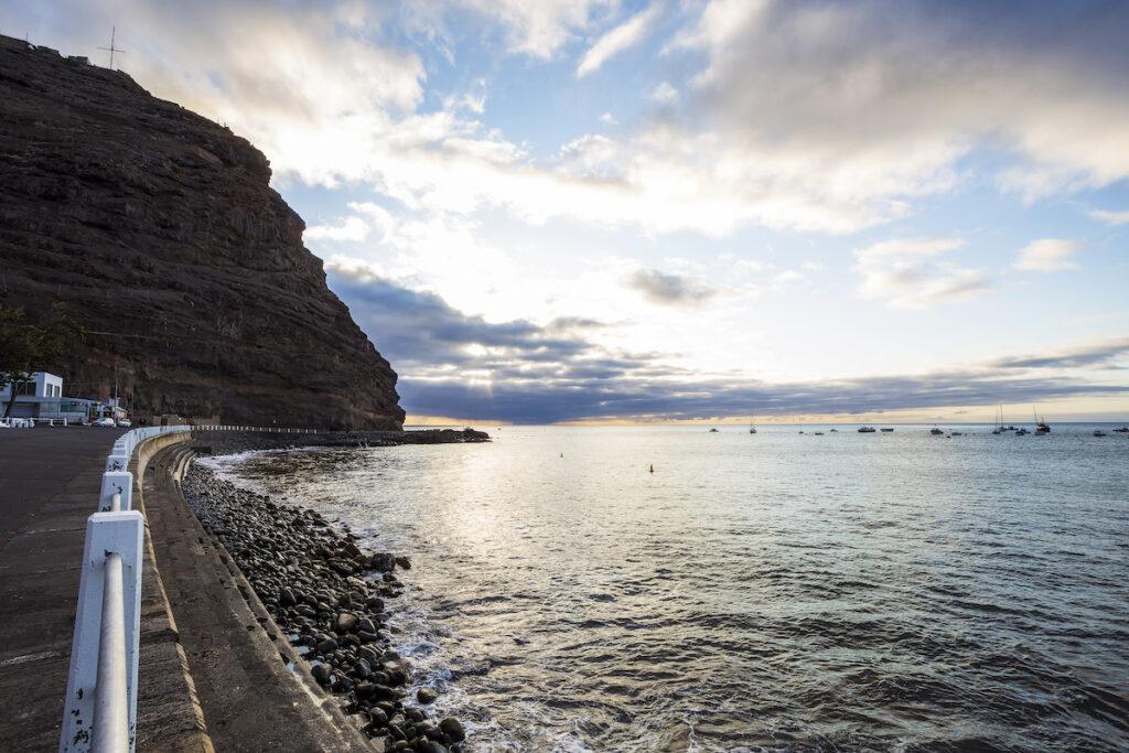 The Jamestown Harbor in Saint Helena.