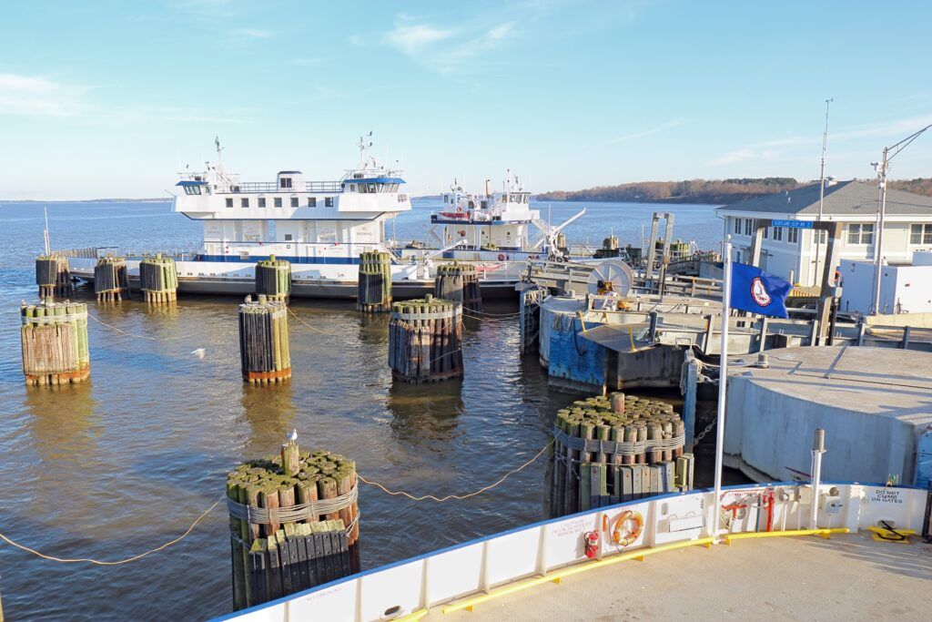 The Jamestown-Scotland Ferry in Virginia.