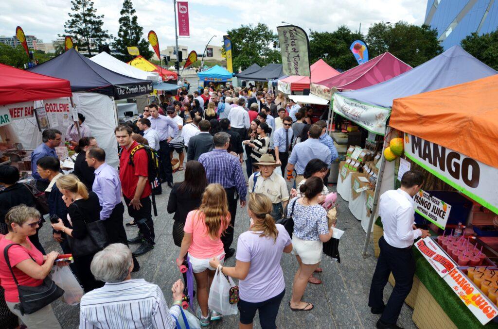 The Jan Powers Farmers Market in Brisbane.