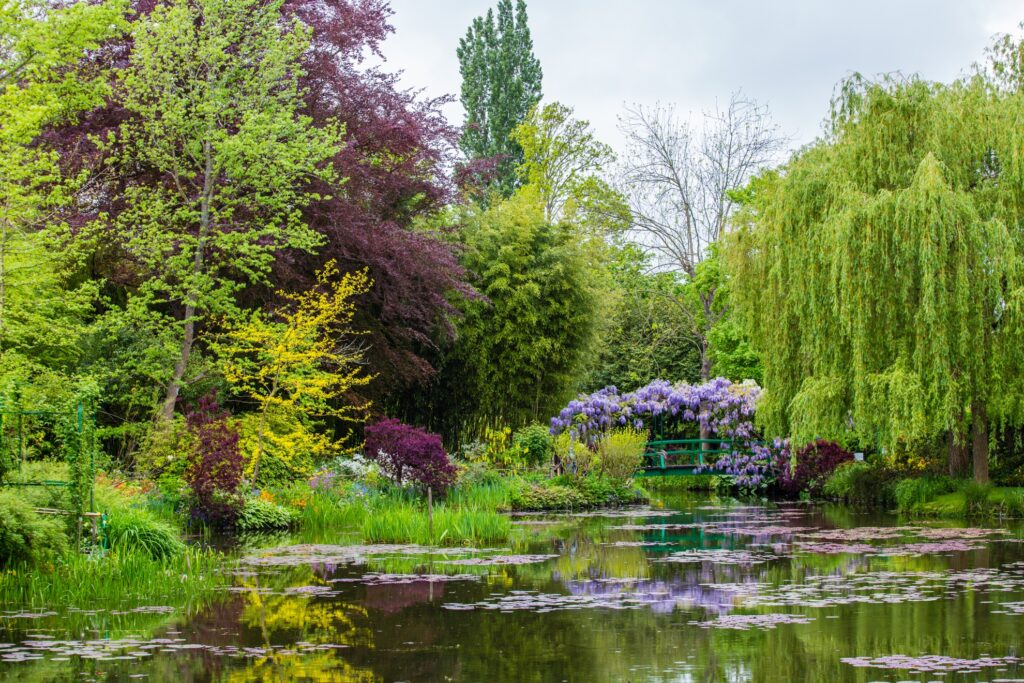 The Japanese-inspired water garden in Giverny.