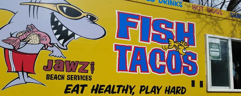 The JAWZ Fish Tacos food truck.