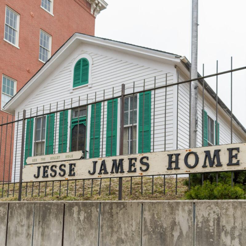 The Jesse James Home in Saint Joseph, Missouri.