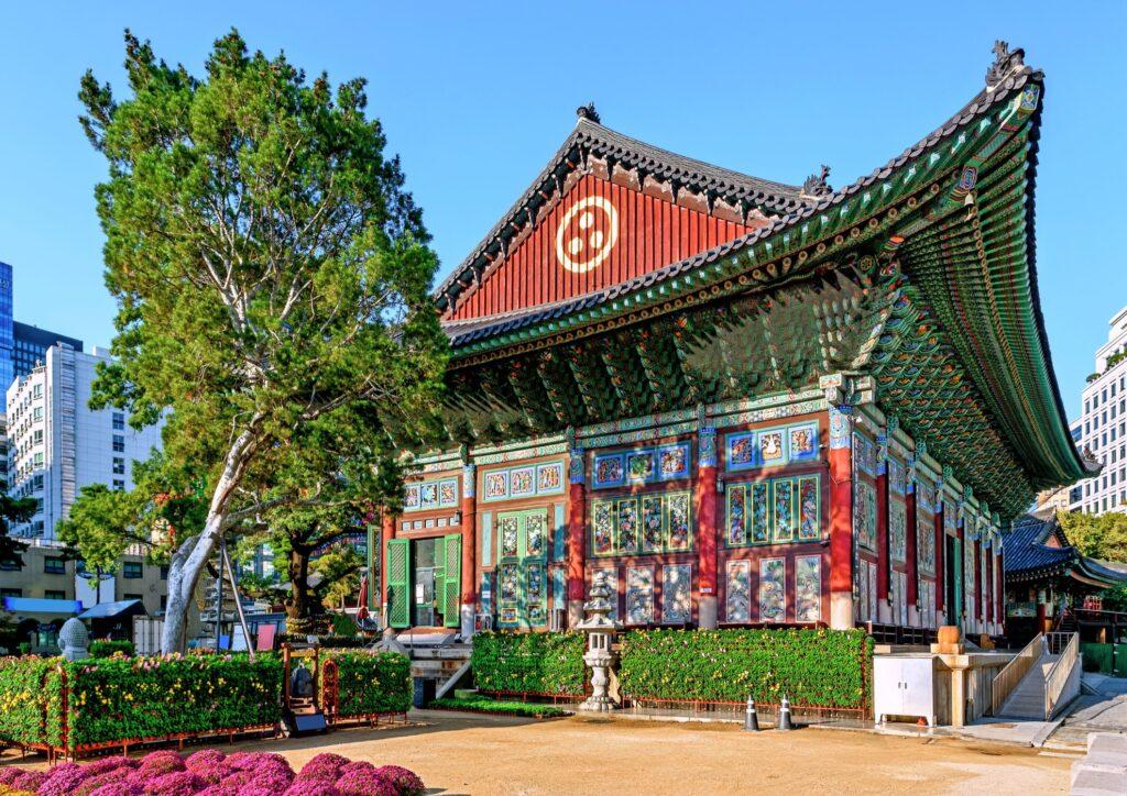 The Jogyesa Korean Buddhist Temple in Seoul.
