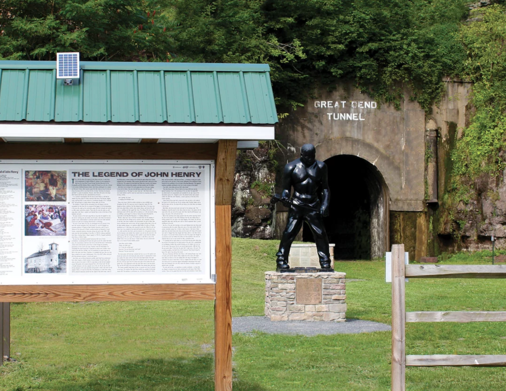 The John Henry Memorial in West Virginia.