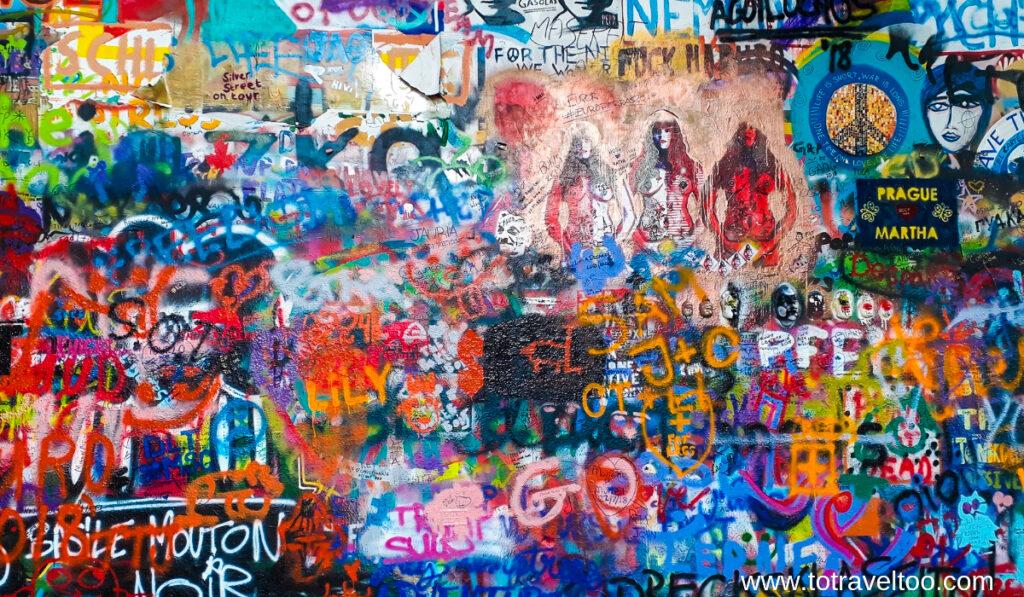 The John Lennon Wall in Prague.