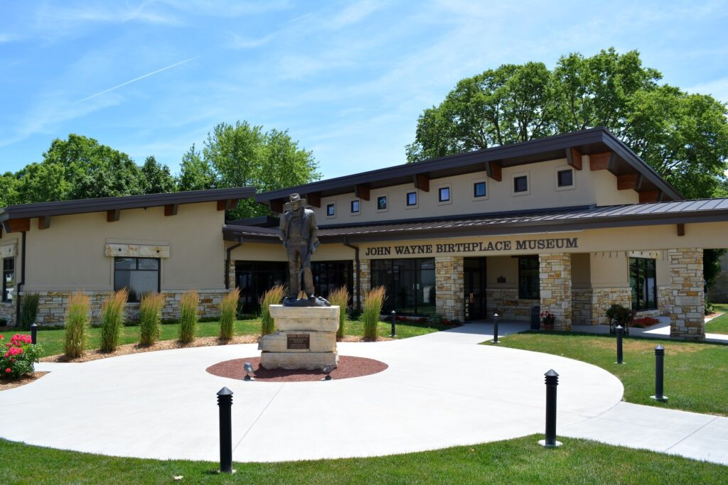 The John Wayne Birthplace Museum in Winterset.