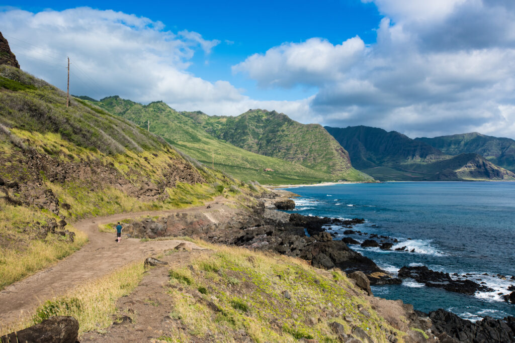 The Kaena Point Trail in Hawaii.