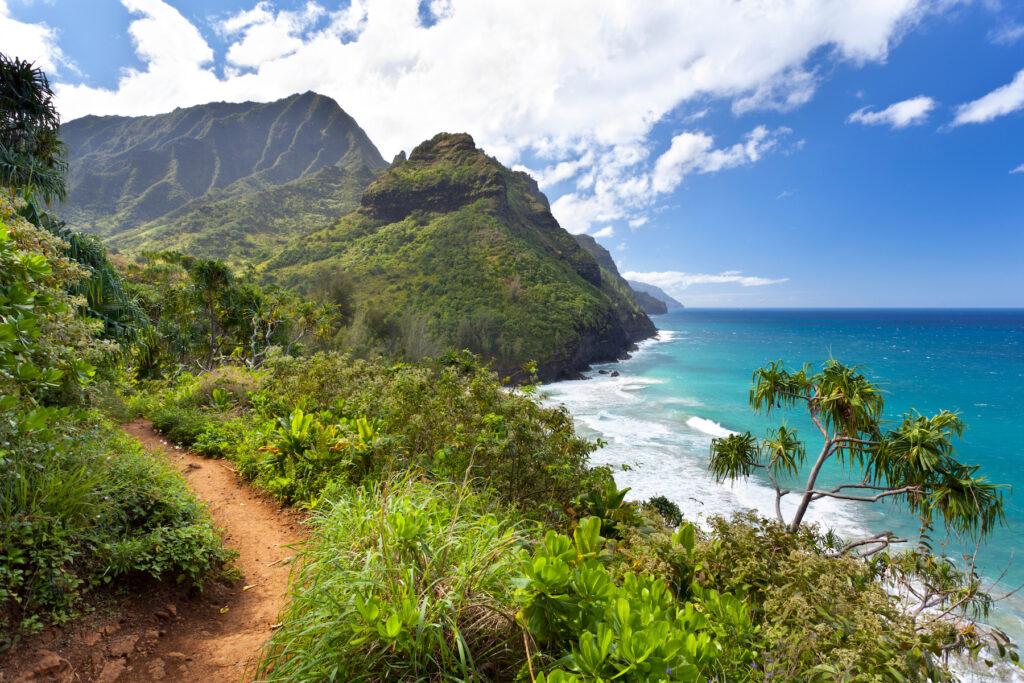 The Kalalau Trail in Hawaii.