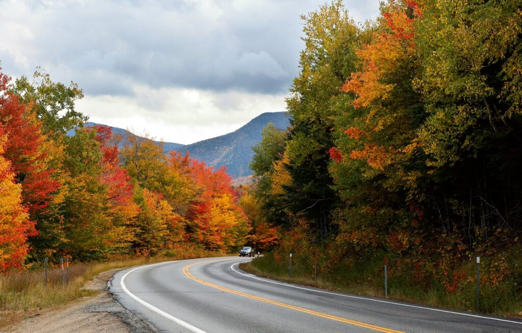The Kancamagus Highway in New Hampshire.