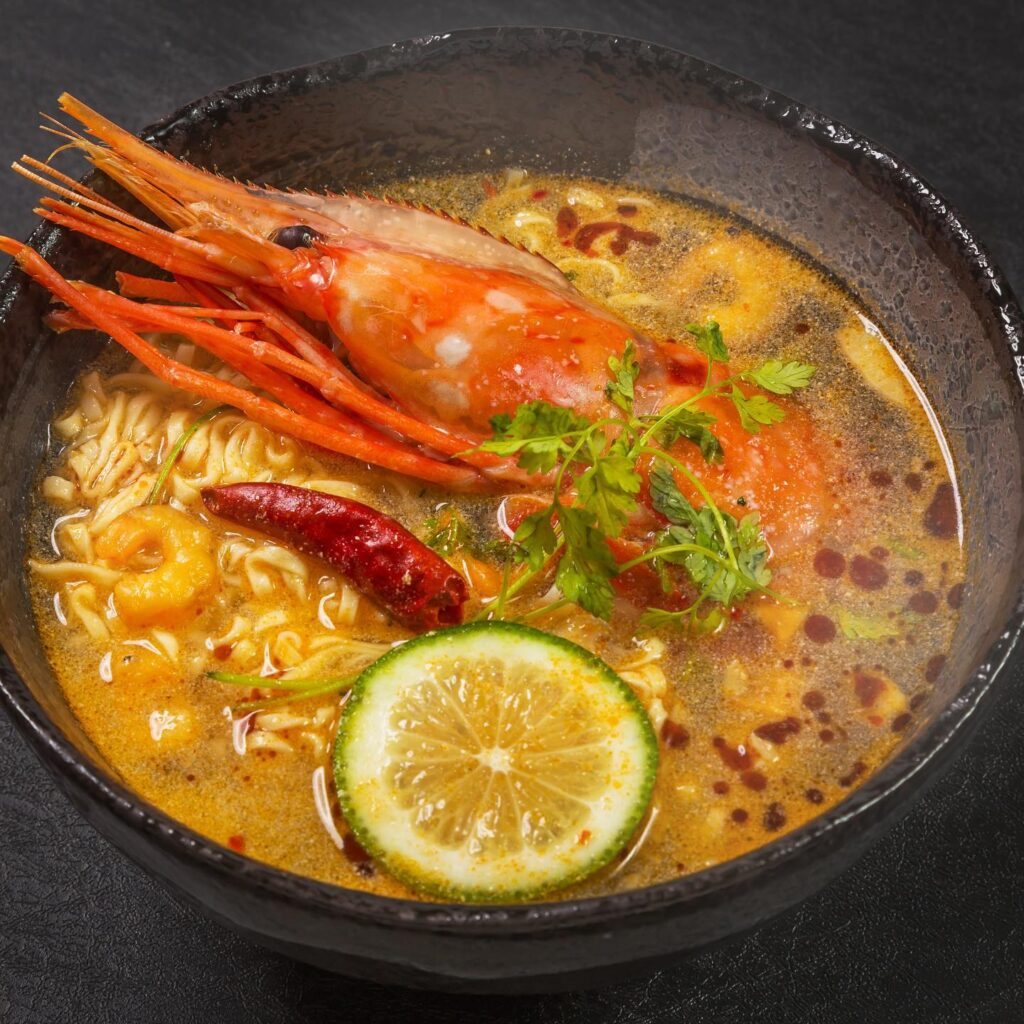 The Kari Laksa Udang Galah dish at Turmeric.