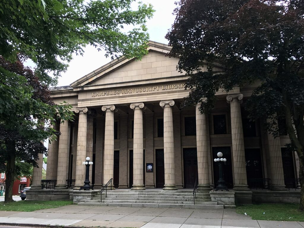 The Karpeles Manuscript Library Museum's North Hall.