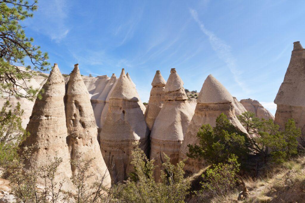 The Kasha-Katuwe Tent Rocks National Monument.